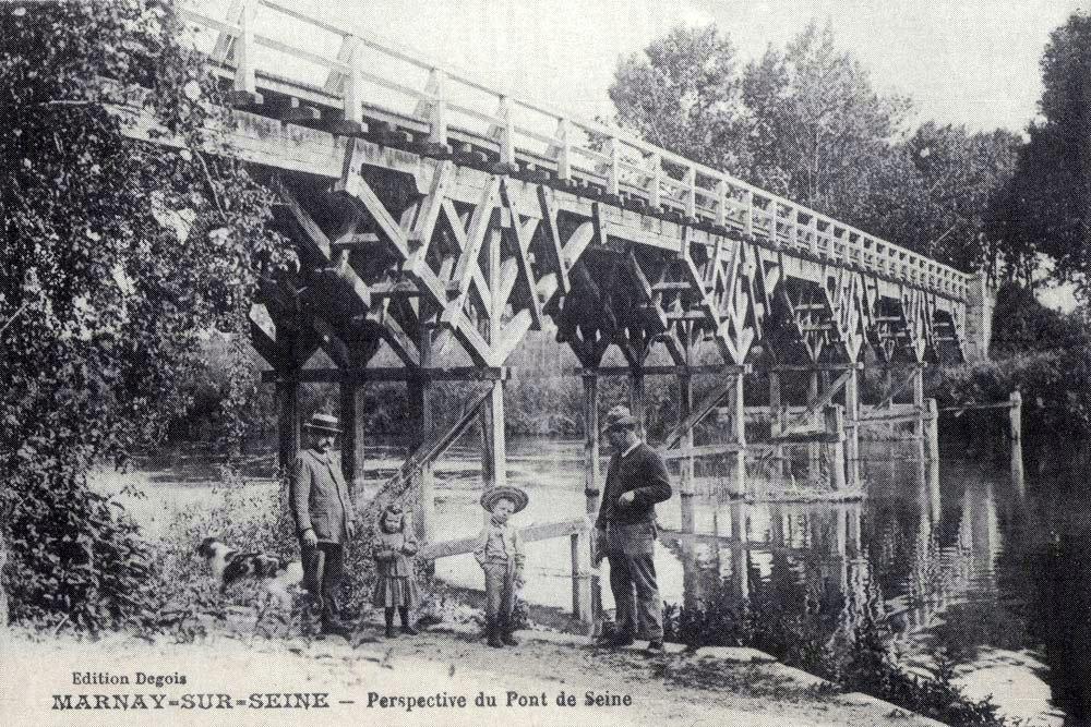 Le vieux pont de bois de Marnay-sur-Seine
